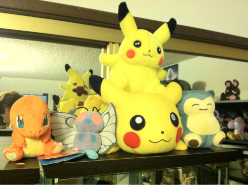 The Pokemon plush collection is growing!!