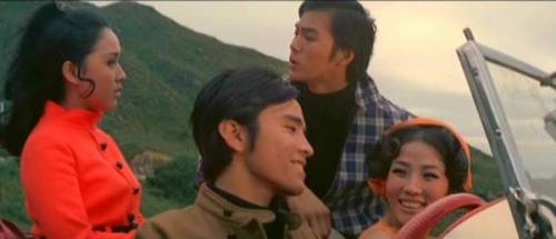 Shaw Brothers Saturdays: 'Dead End' is anything but. A compelling, rich drama about wild youth. Dead End Directed by Chang Cheh Written by Chiu Kang Chien Hong Kong, 1969 The name Chang Cheh should be recognizable to any self ascribed Shaw Brothers fan. The man was a true legend within the studio system, directing movies at such a rapid rate that even Woody Allen would blush. With a whopping total of 95 films to his credit as a director, Chang Cheh was a machine, sometimes working on multiple films in quick succession. The are upsides and downsides to such a career. The obvious criticism is that not all of his movies were good. Some were rather petty in fact. That being said, such workmanship definitely helped him become a remarkably creative individual with a voice capable of sharing eclectic stories. Rarely was this more evident than in his 1969 effort, Dead End, which, despite its title suggesting a horror story, is actually a quaint yet emotionally gripping drama about young adult aimlessness. Ti Lung plays Zhang Chun, a reasonably smart young professional working for a big company in the downtown area. It is a busy building, with many employees hammering away madly at their typewriters. At one point, in a effective silent slow motion shot (a hallmark of the Chang Cheh style of film making), Zhang lays back in his chair and yawns. There is a hint of carelessness in the act, indicative of the type of person he is. While he may earn a living with a respectable job at a respectable employer, he is never going to take such a job too seriously. It simply does not speak to him on a personal level. A greater clue comes in the next scene, wherein Zhang brings along his current girlfriend into the building complex at night, after all have gone home. They engage in comedic foreplay before making love on Zhang's work desk, that is, until they are caught by the nightwatchman. Zhang is promptly fired, leaving back in a position he has been in more than once: jobless with nothing better to do than chase girls with his buddy David (David Chiang), with whom he shares one special girl, the beautiful Mary (Angela Yu Chien), the sort of pixie dream girl that really can only exist in the movies. One day, while driving outside the city, Zhang comes across Wen Rou (Li Chung), a shy if intelligent girl with whom the protagonist will share an ultimately destructive relationship. CLICK HERE TO EXPAND THE ARTICLE