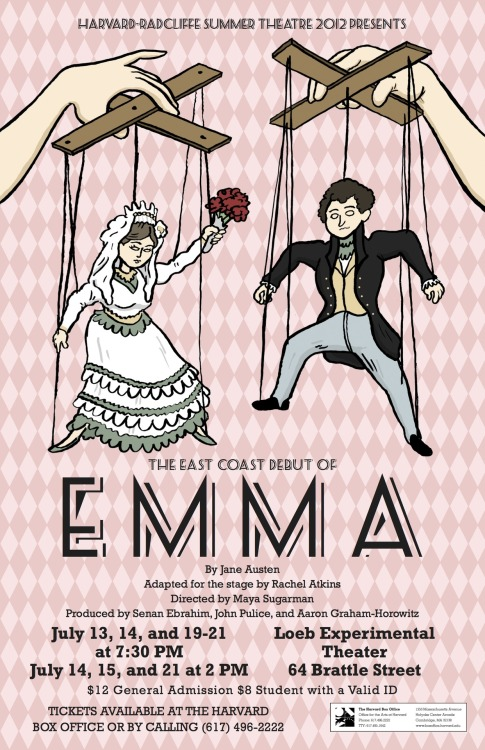 The poster for our second production, Emma!