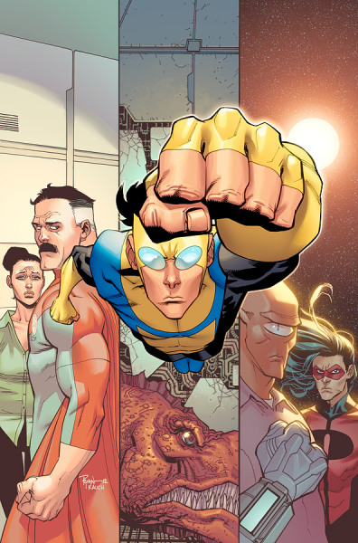 Invincible TPB # 16. Collecting issues 85 - 90. I can't tell you how much I've come to love this series by Robert Kirkman. It has to be my favorite comic series of all time. Sorry, Marvel. But it's just so real and visceral and brutal to boot. And the art is absolutely astounding. I would recommend this comic to anyone.