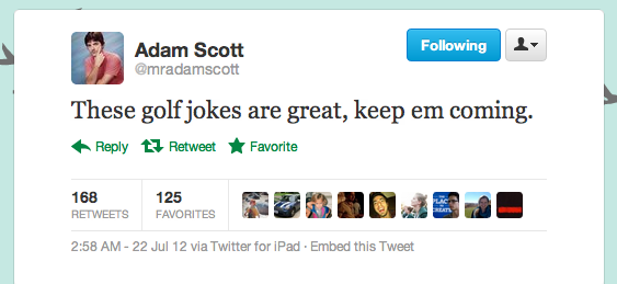 If only people were cool enough to trend this Adam Scott multiple times this week.