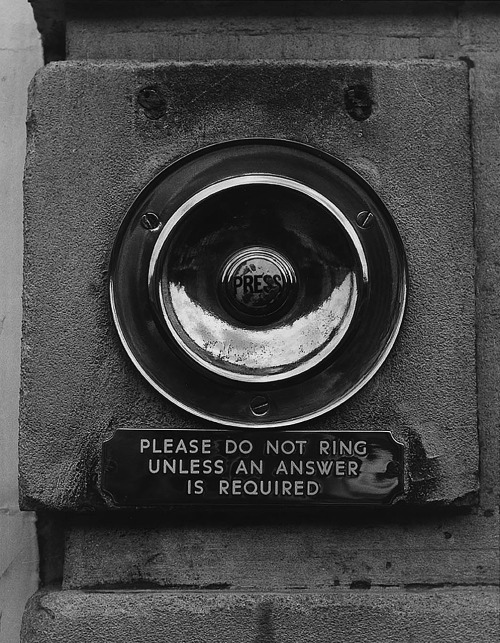 Todd Webb  Please Do Not Ring Unless An Answer Is Required, 1978