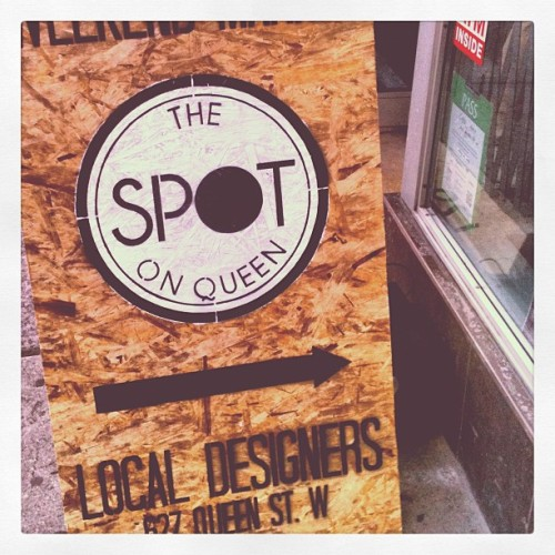 Last day at The Spot! 627 Queen St W. Come by and say hi!  (Taken with Instagram)