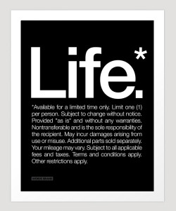 """Life*."" Art Print at Society6. Also in an iPhone Skin and Case WORDS BRAND™ tees, totes, hoodies + more in our US Store and EU Store. Follow WORDS BRAND™ on: Facebook 