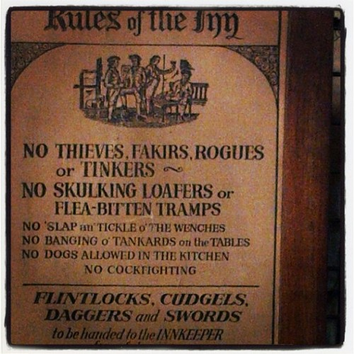 odditiesoflife:  transitsofvenus:  Rules of the Inn, 1786 (Taken with Instagram)