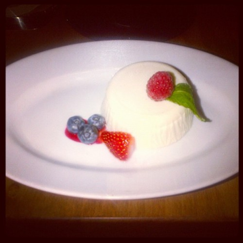 Panna cotta from Ciao Wine Bar's Summerlicious menu. (Taken with Instagram)