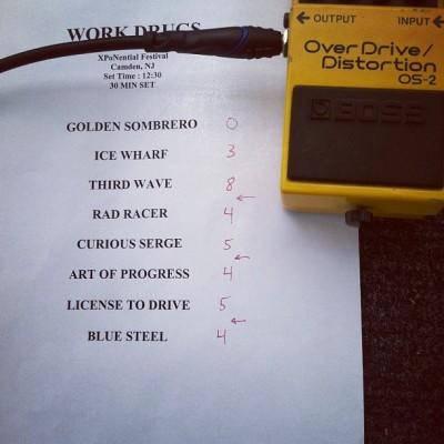 Set list w/ all the hits @workdrugs @wxpnfm #xpofest  (Taken with Instagram)