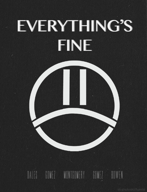 minimal band posters -> The Summer Set (Everything's Fine Album)