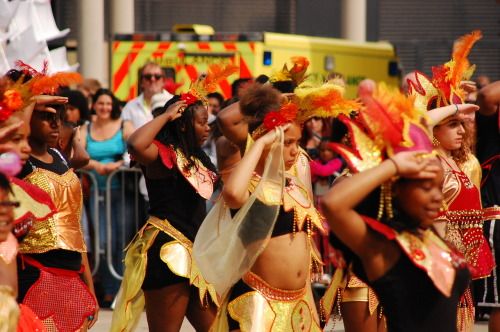 NOTTINGHAM, performing a carnival remix of Beyonce's 'Run the World (Girls)' at Derby Carnival 2012. BRILLIANT!