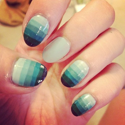 mrcandiipants:  In the process of making a tutorial for these nails! Get excited! #nailart #nails #tutorial #gradient (Taken with Instagram)  Also for those of you who are wondering, my instagram is mrcandiipants, so you should go check it out! I'm actually really enjoying having it haha.