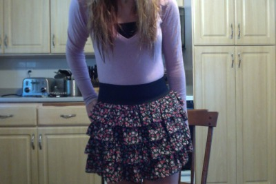i like my outfit today i'm going to a great grandmothers 95th birthday later