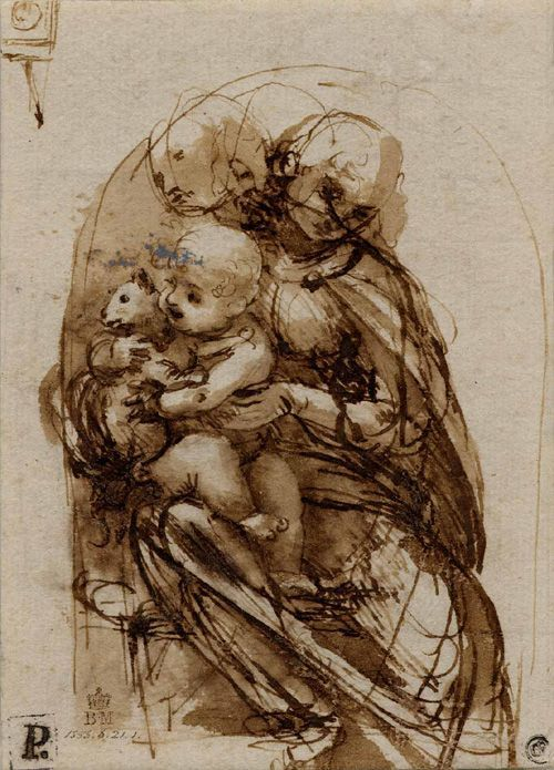 Virgin and child with a cat 1480 Leonardo Da Vinci © British Museum, London