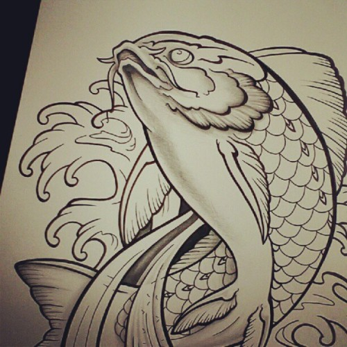 My latest project. #koi  #koifish #fish #koicarp  #design #draw (Taken with Instagram)