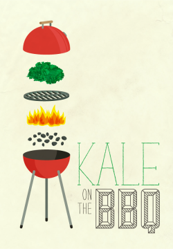 melissamedwyk:  substitute for 1thing illustrated today! kale on the bbq.