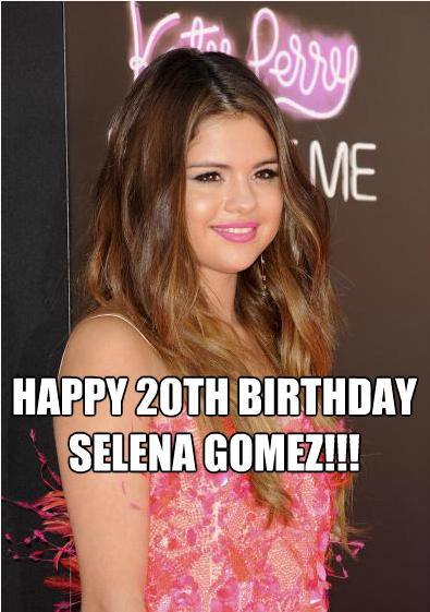 Happy 20th Birthday to Selena Gomez!!! We have to assume she is spending her time with boyfriend Justin Bieber but, for the rest us, you can click to pic to view our gallery!