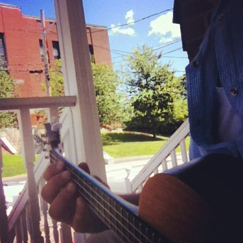 Therapy/Practice!  Beautiful day to play some Ukulele on the porch. :D #ilovemusic #music #ukulele #sunnydays #beautifulday #relaxmode #enjoyingtheday #peaceful #inmyelement (Taken with Instagram)