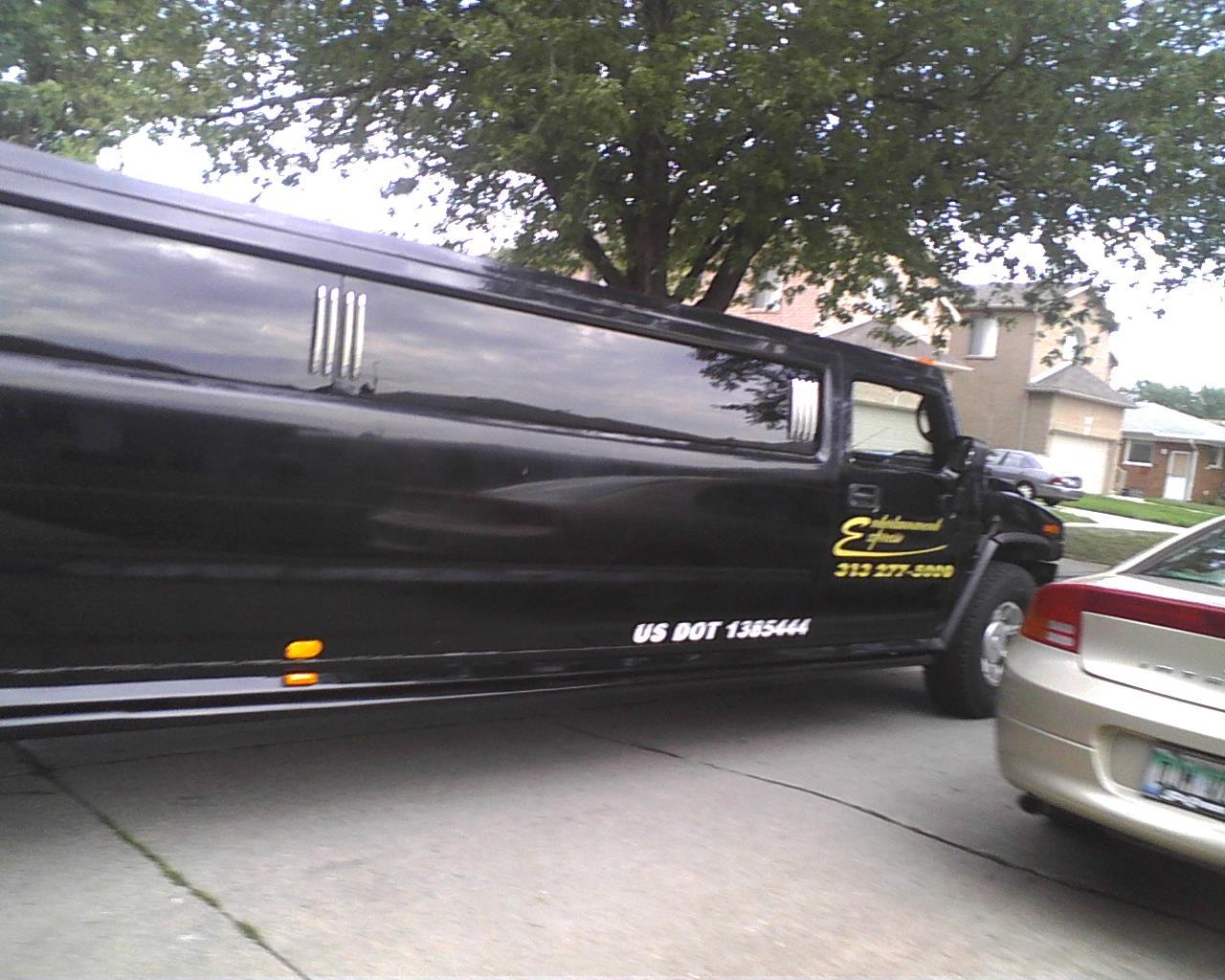 The Hummer limo from last night (: