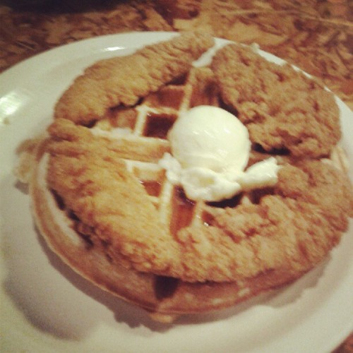 Chicken and waffles. I had to. #BadFitnessBlogger  (Taken with Instagram)