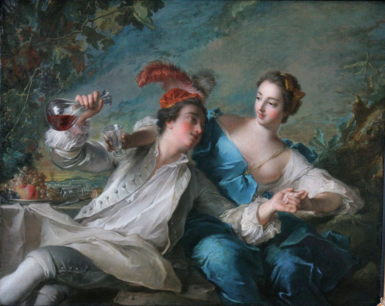 The lovers  1744  Jean-Marc Nattier (1685–1766)