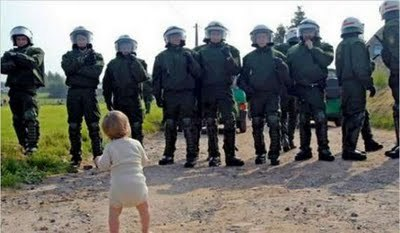 Baby Wants To Take Down Ten Cops