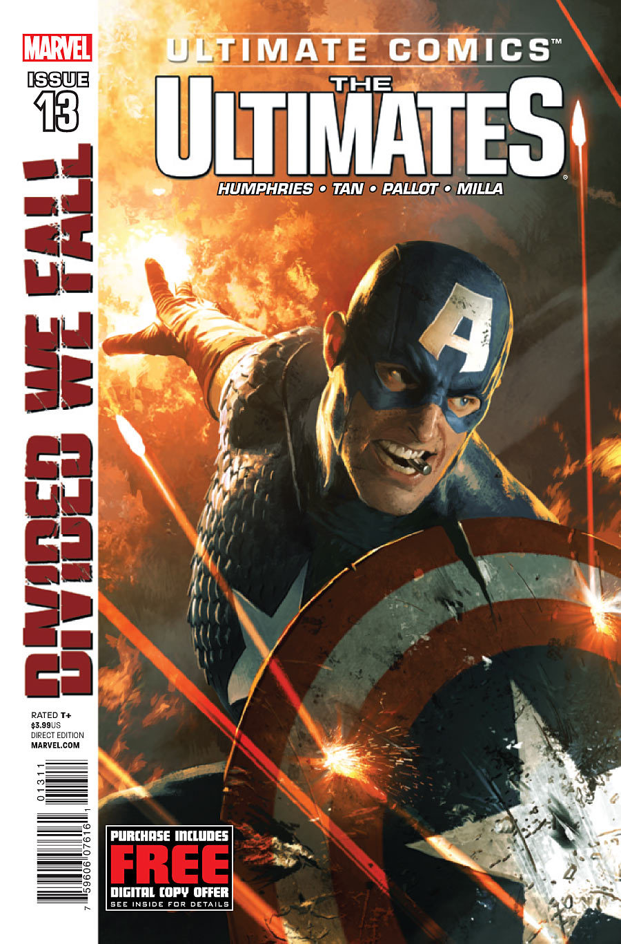 Check out a preview of ULTIMATES issue 13 at Comic Book Resources! Cap kicks a lot of ass in this issue. ON-SALE THIS WEDNESDAY! DIVIDED WE FALL E X P L O D E S INTO ACTION!
