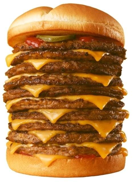 10 patty cheeseburger sandwich