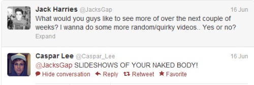caspar lee never fails to be his slutty, south african self
