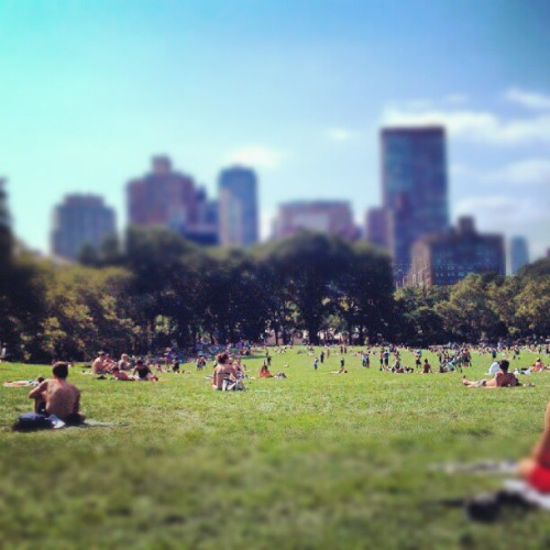 Relaxing… (Taken with Instagram at Central Park)