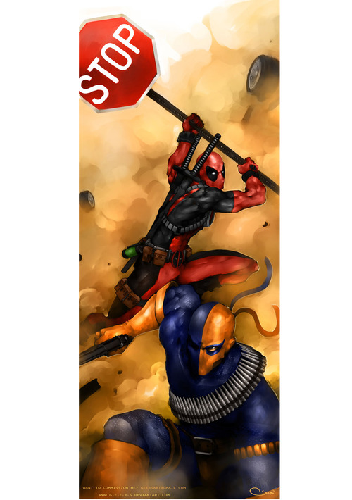 Deadpool vs Deathstroke by Darren Lim Geers