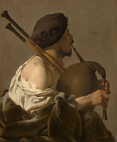 (via Hendrick ter Brugghen - Bagpipe Player [1624] | Gandalf's Gallery)