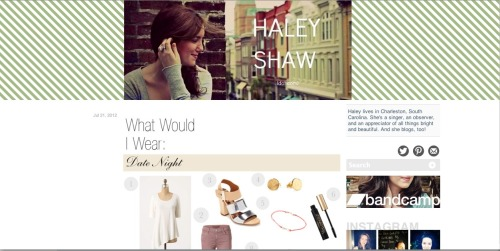HaleyShaw.com  — it's where I'll be from now on.  It's been real, Tumblr!