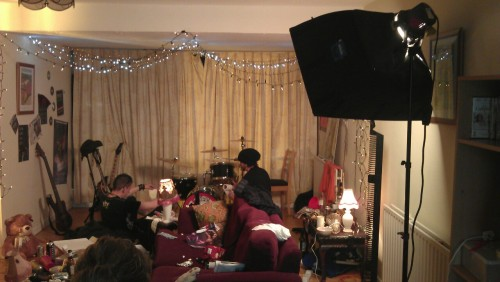 We shot a big chunk of our second music video yesterday. It was a lot of fun, but a really, really long day. We've a bit left to do next Saturday, but it'll be all ready to go next month. So exciting. =]