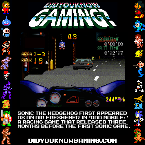 didyouknowgaming:  Sonic The Hedgehog. Rad Mobile. Submitted by Dr. Toreibo. WHAAAAAAAAAAAAAAAAA?!?!