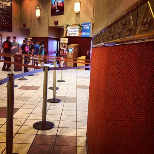 First in line! 😝 #batman (Taken with Instagram at Tinseltown Cinema)