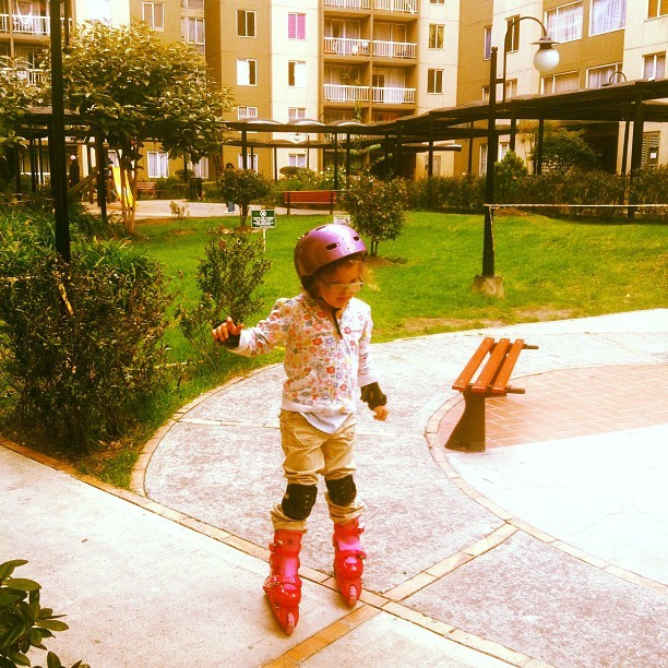 Silvana learns To roller-skate. #channelorange  (Taken with Instagram)