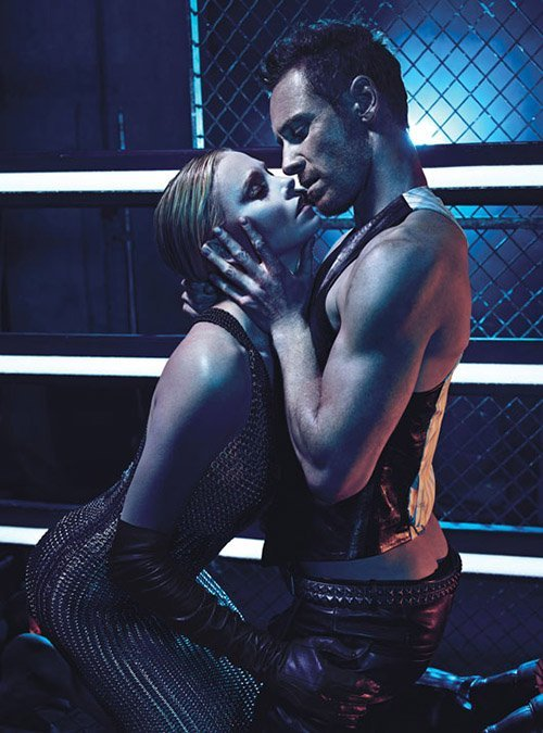 chanelaftercoco:  Charlize Theron & Michael Fassbender Cover W August 2012  Hawt!