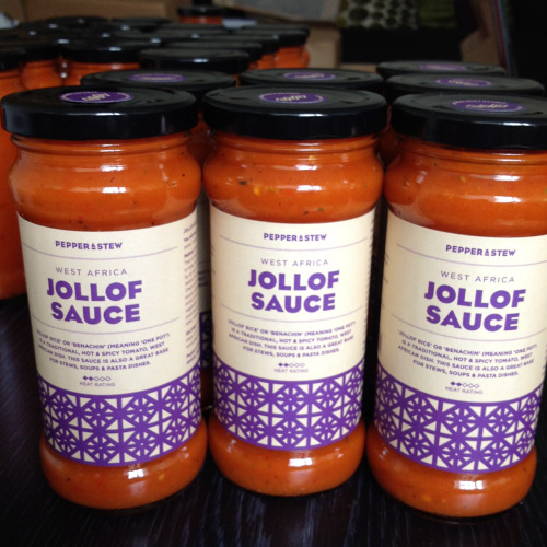 Sneak preview of the new branding. What do you think? #jollofsauce #pepperandstew #africanfood