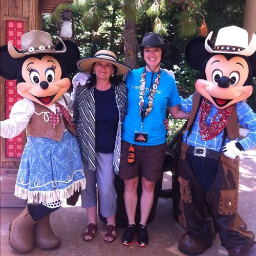 Me, Mom, Mickey and Minnie. #giddyup / on Instagram http://instagr.am/p/NZfNwslAy2/