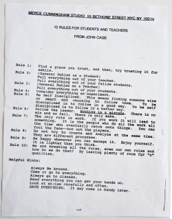 creaturesofcomfort:  10 Rules For Students And Teachers From John Cage