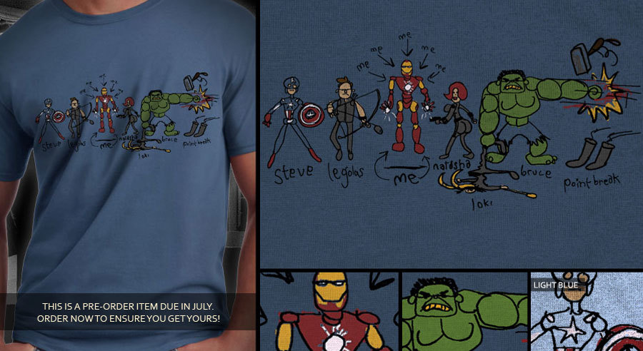 Meet The Earth's Mightiest Heroes  How Tony Stark Sees the Avengers.  (vía Dark Bunny Tees)