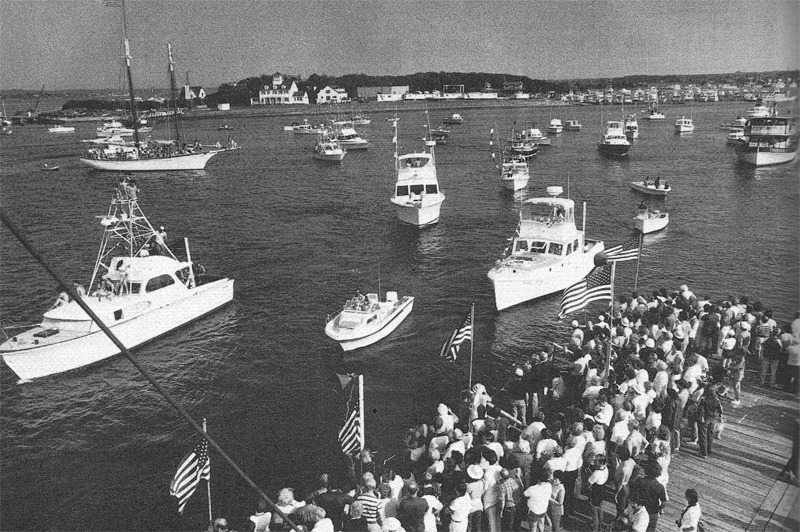Blessing of the Fleet, Montauk NY, summer 1983