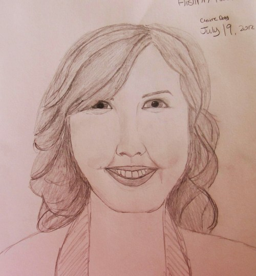 My drawing of Aislinn Paul! If any of you watch Degrassi you know who she is :)