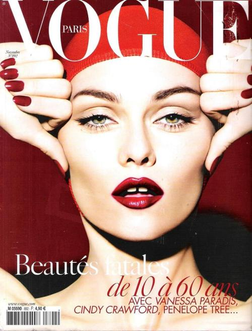vsandmore:  Vanessa Paradis on the cover of Vogue Paris