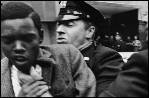 collective-history:  USA. 1963. Black man being forced aside by police. Leonard Freed