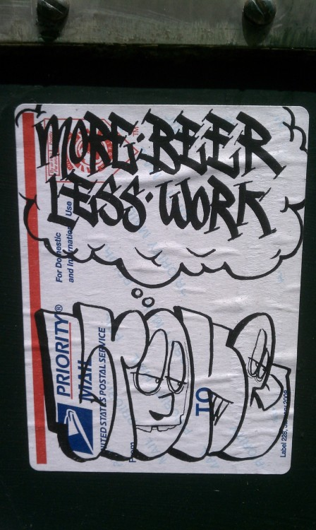 more beer less work street art:  oakland - san pablo