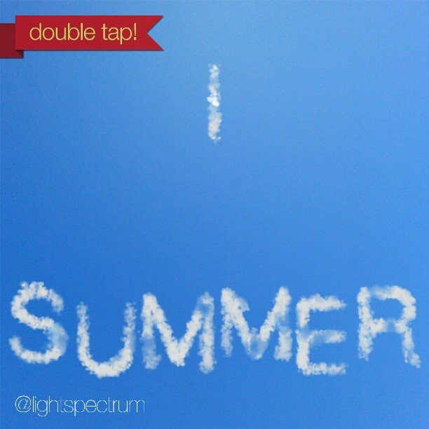 instacanv.as/lightspectrum - double tap if you love summer!  check out instacanv.as/lightspectrum  #summer #love #sky #clouds #sun #clear #blue #happy #nature #beach #fun #smile #sunset #friends #life #instagood #tweegram #photooftheday #instamood #me #cute #picoftheday #boy #girl #instadaily #bestoftheday http://instagr.am/p/NZsOjGowCY/