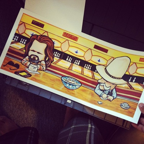 first time printing this 😃 #lebowski (Taken with Instagram)