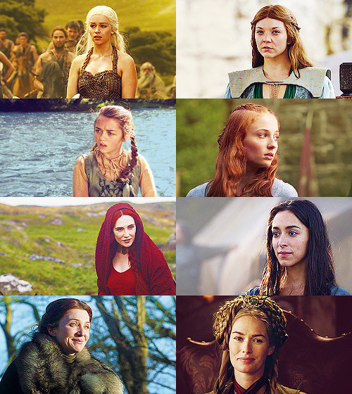 myrcellas:  The women are the strong ones, truly.   Game of Thrones Challenge: Eight otps: Ladies/autonomy over their own lives, respect, power, happiness etc
