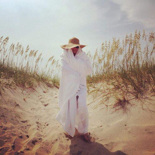 Woman of The Dunes (walking mosquito net) (Taken with Instagram)