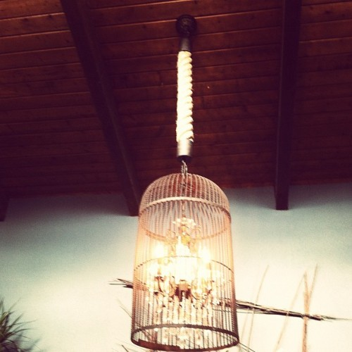 Founded birdcage created by #vintagebymisty and #katinapatriquin #decor #lighting  (Taken with Instagram)